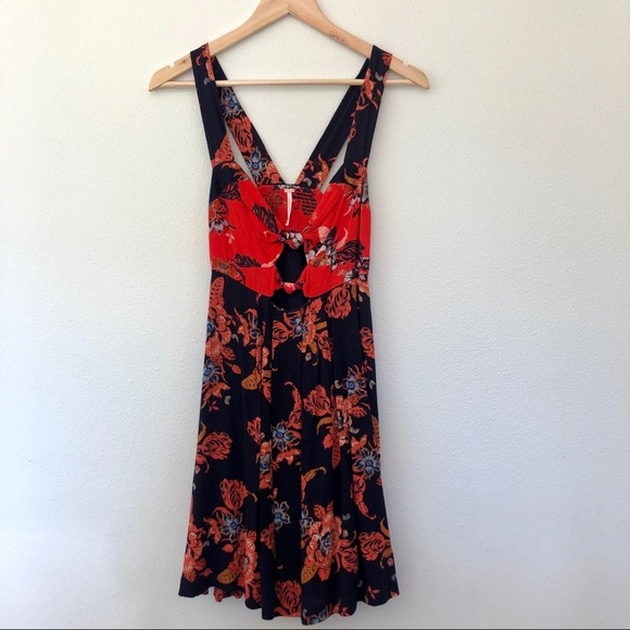Free People Dresses & Skirts - Free People open back Autumn dress tunic Navy XS